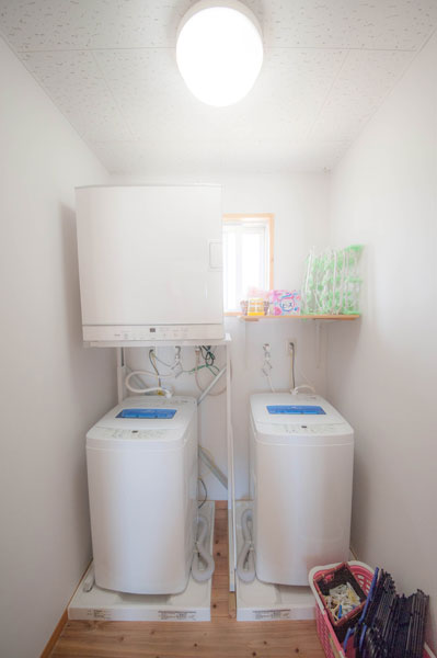 洗濯機、洗剤無料、乾燥機あり|宮古島の民宿 あがりの宿さんさーら
