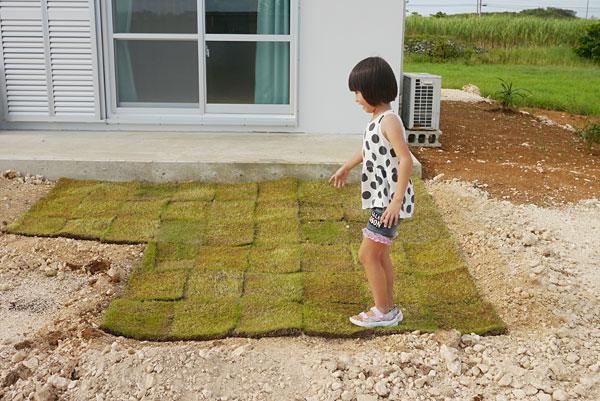 芝生敷いてるところ|宮古島の民宿 さんさーら