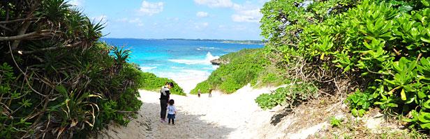 宮古島砂山ビーチ・丘の上からの眺望