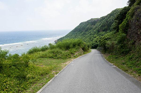 吉野海岸への下り坂