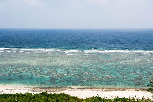 吉野海岸、崖上から一望
