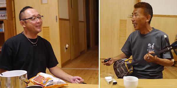 人力マンとゲスト|宮古島の民宿 あがりの宿さんさーら