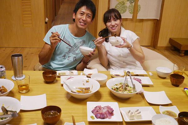 夕食風景|宮古島の民宿 あがりの宿さんさーら